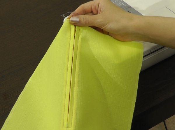 Как вшить молнию в юбку пошаговое