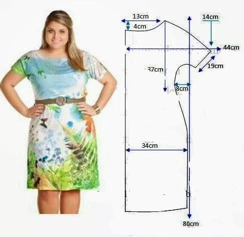 Выкройка летних платьев на полную женщину